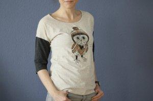 Mavi Shirt mit süßer Eule und Pailletten