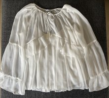 Max & Co. Ruffled Blouse white polyester