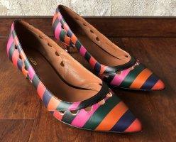 Max Mara Kitten Heels/Pumps gestreift kräftige Farben Größe 39