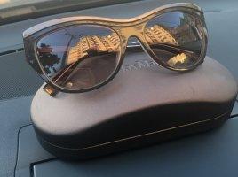 Max Mara Gafas marrón-marrón claro tejido mezclado