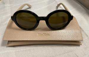 Max Mara Round Sunglasses black-camel