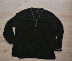 Maxi blue edle schwarze Bluse Hemd Größe 52 schwarz