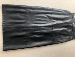 St. emile Falda de cuero negro