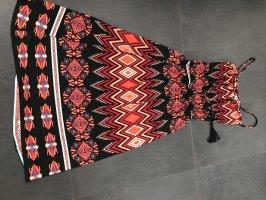 Maxi-jurk zwart-rood