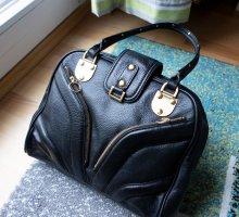 Maxx New York Echtleder Designer Tasche Handtasche goldene Hardware Business NEU