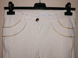 Mayo Chix Pantalone elasticizzato bianco-oro