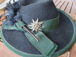 MAYSER Folkloristische hoed zwart-donkergroen