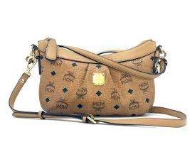 MCM 2 Way Handtasche Tasche Bag Cognac Gold Visetos Schultertasche Small