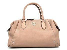 MCM 2Way Leder Tasche Schultertasche Shopper Altrosa / Nude Medium