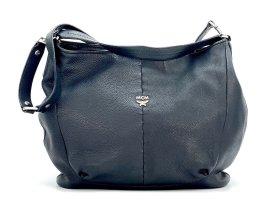 MCM 2Way Leder Tasche Schwarz Groß Schultertasche Handtasche X-Large Shopper