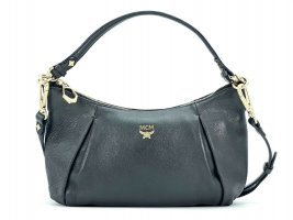 MCM Crossbody bag black-silver-colored leather