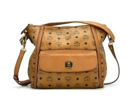 MCM 2Way Visetos Tasche Umhängetasche Schultertasche Cognac Medium Bag