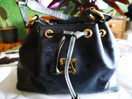 MCM Handbag black-dark green