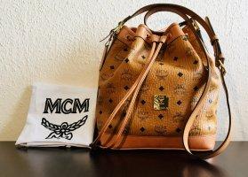 MCM Beuteltasche  Heritage Drawstring Small Cognac