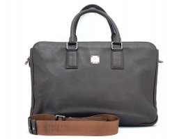 MCM Business Bag Dunkelbraun Messenger Laptoptasche Dokumententasche Tasche