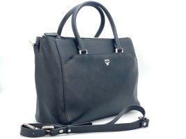 MCM Business Bag Schwarz Black Leder Messenger Tasche Umhängetasche
