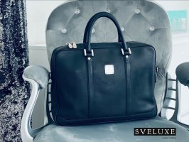 MCM Briefcase black-silver-colored mixture fibre