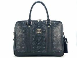MCM Briefcase black-silver-colored