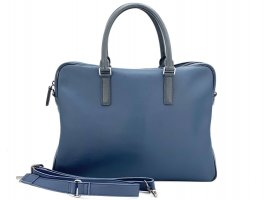 MCM Business Bag Schwarz Blau Messenger Laptoptasche Dokumententasche Tasche