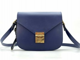 MCM Crossbody bag gold-colored-blue leather