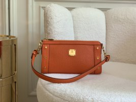 MCM Clutch Pochette First Lady Leder orange