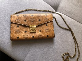 MCM Crossbody bag cognac-coloured-gold-colored leather