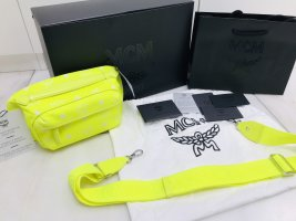 MCM Marsupio giallo neon
