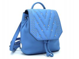 MCM Diamond Disco Mini Blue Backpack Leder Rucksack Small Crystal Neu m. Etikett
