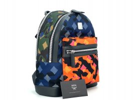 MCM Dieter Rucksack in Munich Lion Camo Camouflage Print Nylon Baclpack Small
