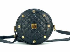 MCM First Lady Leder Tambourine Bag Crossbody Umhängetasche Tasche Schwarz