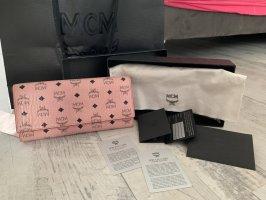 MCM Flap Wallet Large Rosa