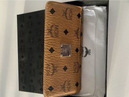 MCM Clutch brown-lilac leather