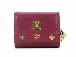 MCM Wallet gold-colored-magenta leather