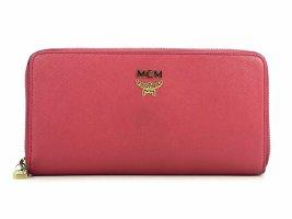 MCM Geldbörse Portemonnaie Kartenetui Etui Large Pink Rot