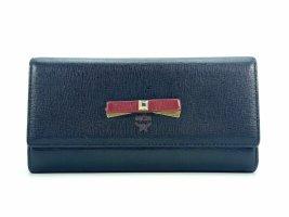 MCM Geldbörse Schwarz Wallet Portemonnaie Kartenetui Etui Size Large + Box