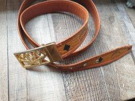 MCM Cintura di pelle oro-cognac