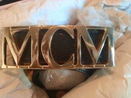 MCM Boucle de ceinture noir-doré