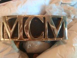 MCM Hebilla del cinturón negro-color oro