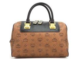 MCM Handtasche Boston Bag 30 Visetos Tasche Henkeltasche Braun Gold Medium