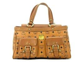 MCM Handtasche Boston Bag Cognac Braun Tasche Heritage Henkeltasche Medium