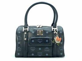 MCM Handtasche Boston Bag Visetos One Pocket Black Tasche Heritage Henkeltasche