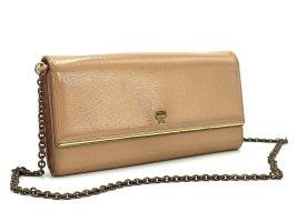 MCM Handtasche Clutch Tasche Bag Nude Lackleder Schultertasche Small