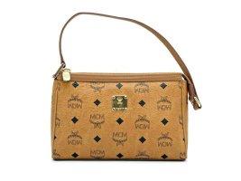 MCM Handtasche Tasche Bag Clutch Cognac Gold Visetos Schultertasche Small