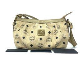 MCM Handtasche Tasche Bag Elfenbein Gold Visetos Schultertasche Small Ivory