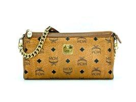MCM Handtasche Tasche Clutch Bag Cognac Gold Visetos Schultertasche LogoPrint