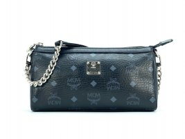 MCM Shoulder Bag black-silver-colored