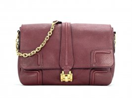 MCM Crossbody bag gold-colored-bordeaux leather