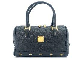 MCM Henkeltasche quilted Leather Leder Tasche small schwarz Bag Michael Cromer