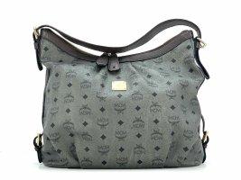 MCM Hobo Bag Schultertasche Handtasche Shopper Tasche Visetos Anthrazit Large