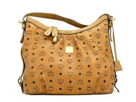 MCM Hobo Bag Schultertasche Handtasche Shopper Tasche Visetos Cognac Large